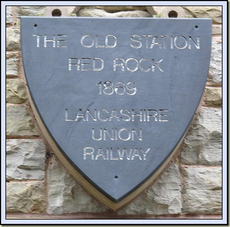 Plaque at the site of Red Rock Station