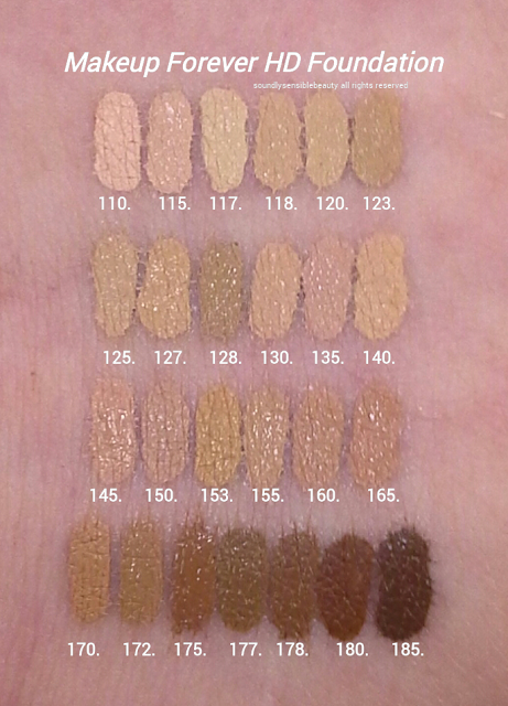 Makeup Forever Hd Foundation Review Swatches Of Shades