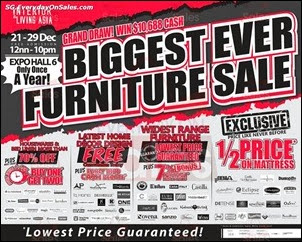3fc8660605a194 Interior   Living Asia 2013 Singapore Jualan Gudang EverydayOnSales Offers  Buy Sell Shopping