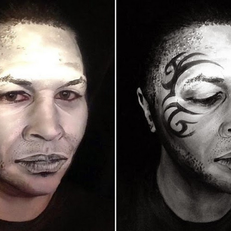 Makeup Artist Transforms Herself into Celebrity Faces