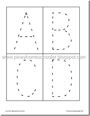 alphabet sound cards and tracing cards the pinay homeschooler. Black Bedroom Furniture Sets. Home Design Ideas