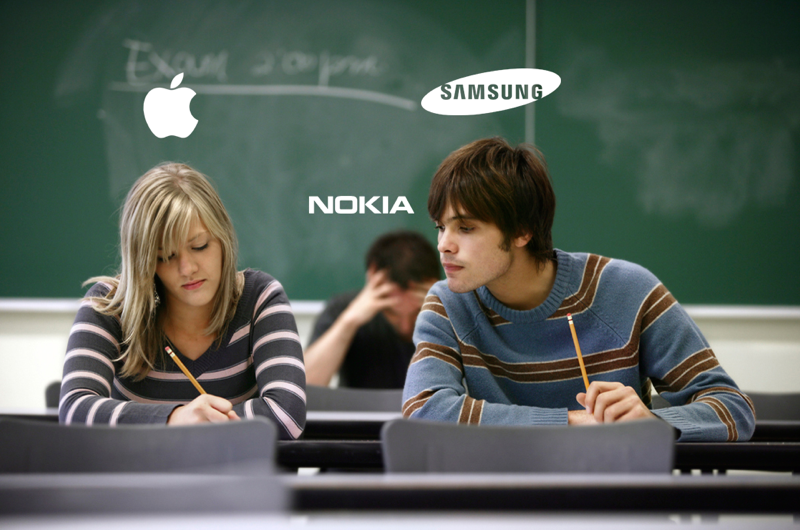 Apple Samsung Nokia