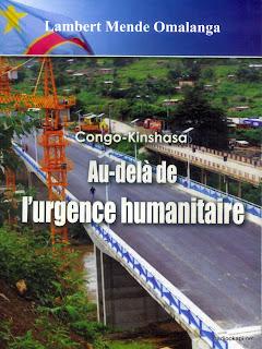 """La couverture du livre """"Congo-Kinshasa: Au-delà de l'urgence humanitaire"""" de Lembert Mende Omalanga, ministre congolais ministre de Communication et Medias. Radio Okapi"""