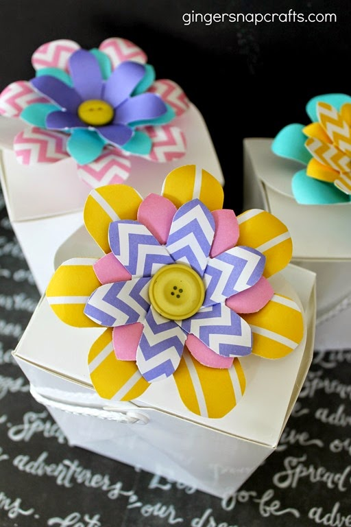 flower party favor boxes