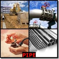 PIPE- 4 Pics 1 Word Answers 3 Letters