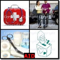 AID- 4 Pics 1 Word Answers 3 Letters