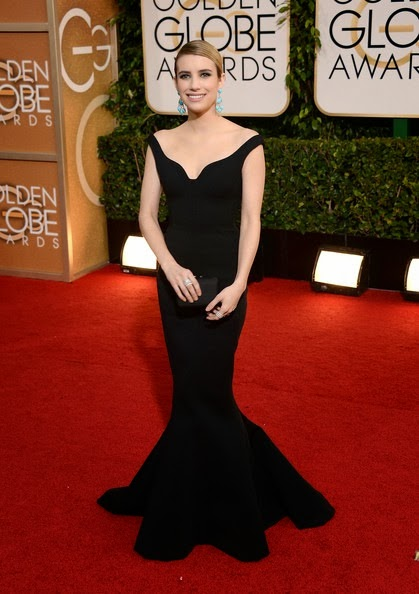 Emma Roberts attends the 71st Annual Golden Globe Awards (2)