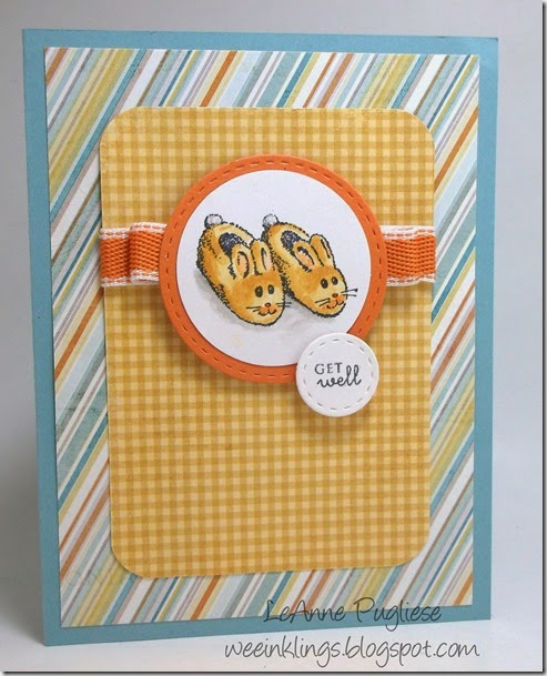 LeAnne Pugliese WeeInklings ColourQ237 Bunny Slippers Get Well Stampin
