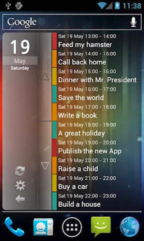 Clean-Calendar-Widget-on-Phone