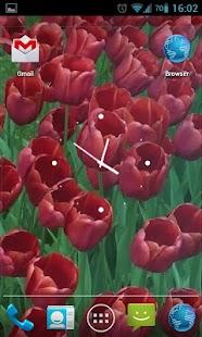 Red Tulips Live Wallpaper HD- screenshot thumbnail
