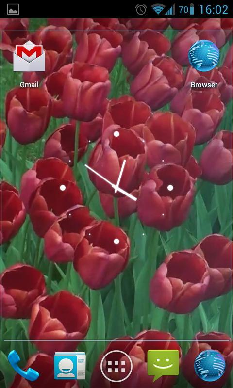 Red Tulips Live Wallpaper HD- screenshot