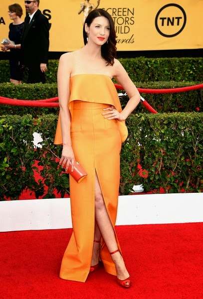 Caitriona Balfe attends the 21st Annual Screen Actors Guild Awards