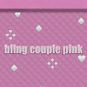 Bling Couple Pink Go Launcher logo