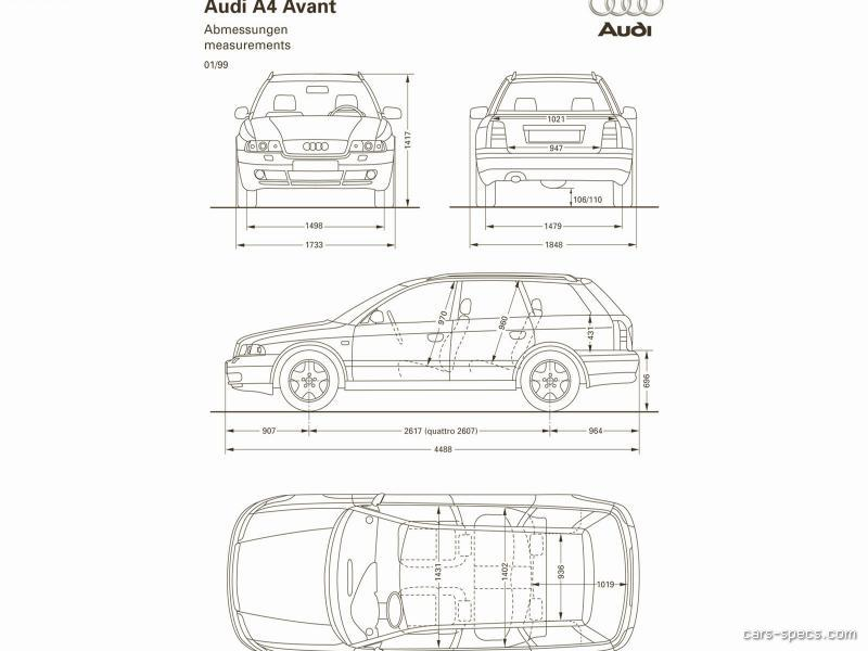1998 audi a4 wagon specifications pictures prices. Black Bedroom Furniture Sets. Home Design Ideas