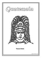 Colorear Dibujos De Tecún Umán Guatemala