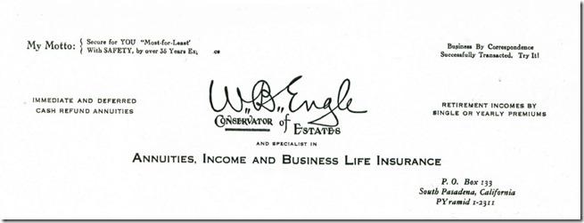 William Barker Engle Letterhead