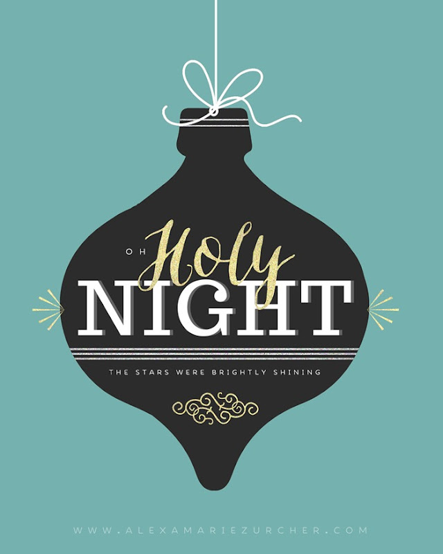 Free Christmas Printables, Oh Holy Night Printable