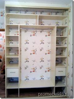 встроенный шкаф внутри-фото