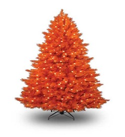Unique-and-Unusual-Colorful-Artificial-Christmas-Tree-Design-Orange