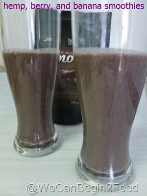 Hemp, Berry and Banana Smoothies