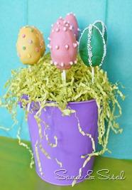 Easter Egg Brownie Pops