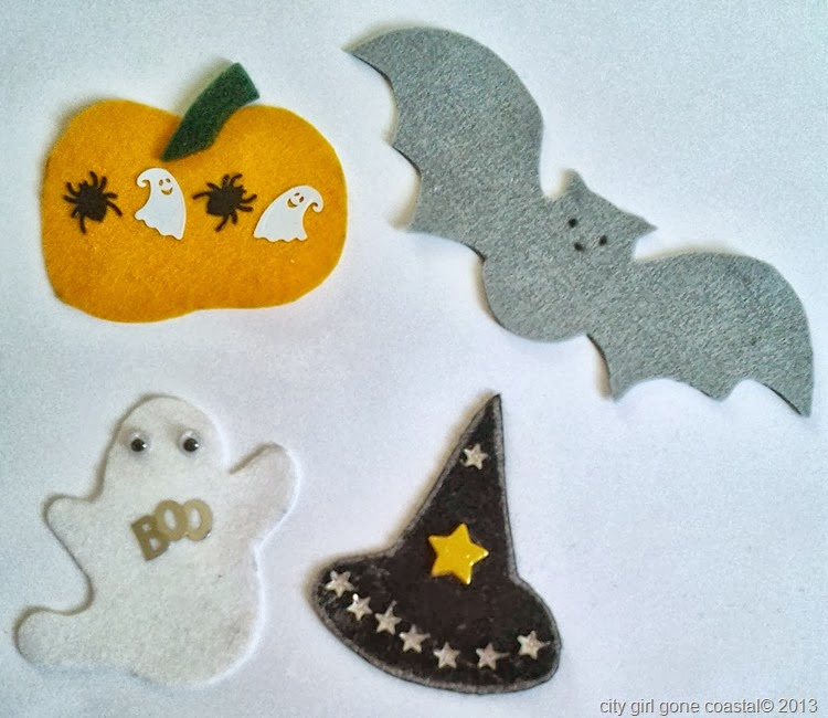 DIY Felt Halloween decorations decorated