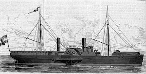 El vapor de guerra LILIAN, despues VICTORIA DE LAS TUNAS. Grabado de LA ILUSTRACION DE MADRID
