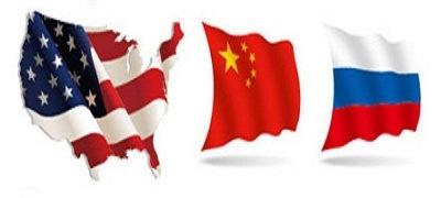 EUA Rússia e China