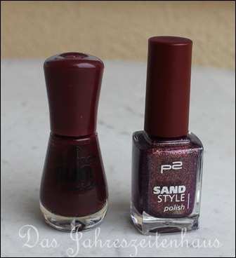 Essence sun kissed - 01 - Soak up the sun und P2 Sand Style Polish - 030 - Seductive