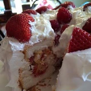 Fluffy Strawberry Lemon Cake.