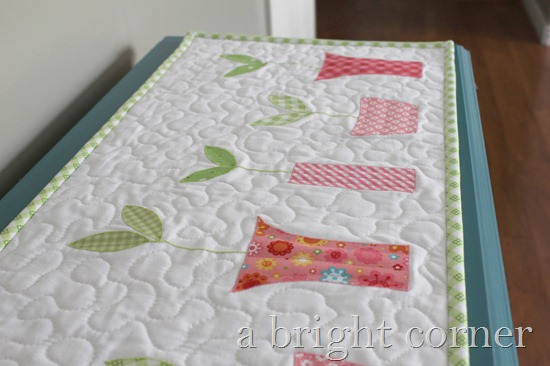 Sprouts Table Runner and Topper pattern from A Bright Corner