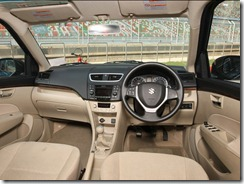 swift dzire 2012-inside