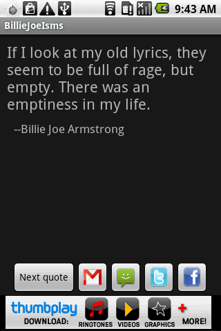 BillieJoeisms - screenshot