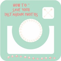 How to save your instagram photos