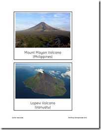 FREE Active Volcanoes Picture Cards