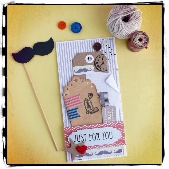 cafe creativo - AnnaDrai - Big shot - card maschile - Father's Day -Festa del papà - mustache - baffi