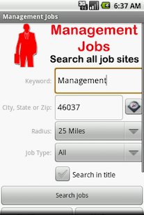 Management Jobs - screenshot thumbnail