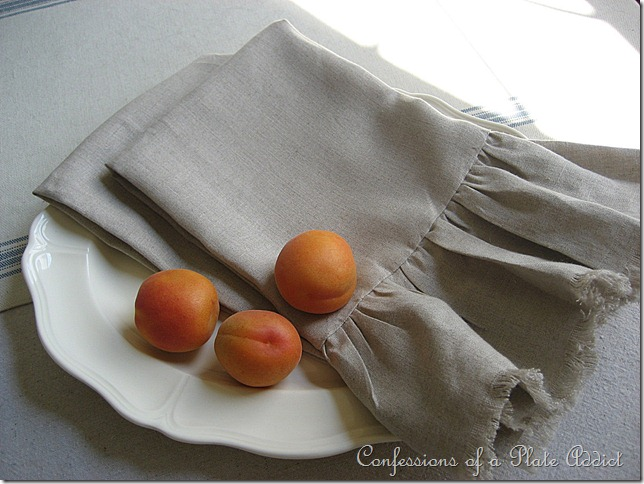 CONFESSIONS OF A PLATE ADDICT Wisteria Inspired Linen Hand Towels