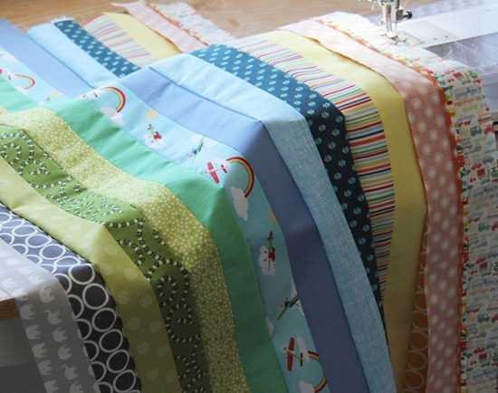 Cluck Cluck Sew Free Quilt Tutorial Strip And Flip Baby