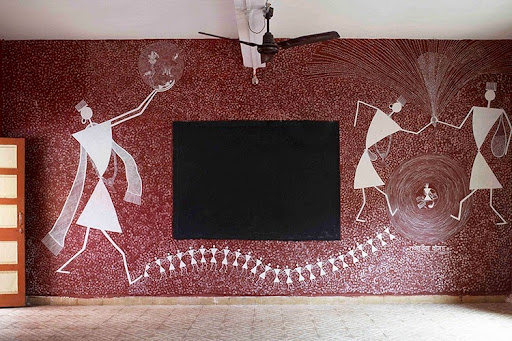 WAF2012-index033 & Intricate Mud Paintings on School Walls in India | Amusing Planet