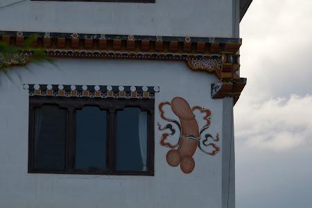 Un penis pictat pe perete