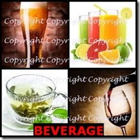 BEVERAGE- 4 Pics 1 Word Answers 3 Letters