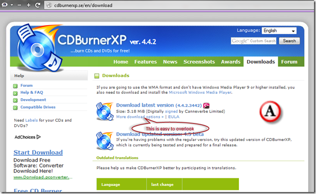 Notes tone unturned: How to install CDBurnerXP (and WinSCP
