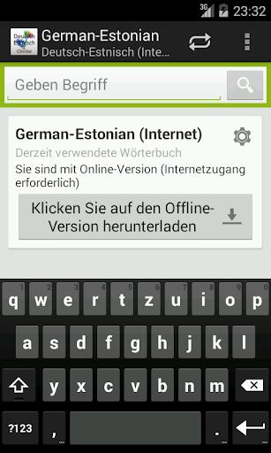 German-Estonian Dictionary