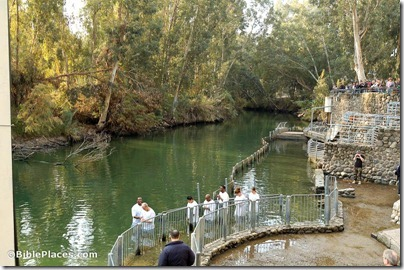 Jordan River baptism at Yardenit baptismal site, tb011406482