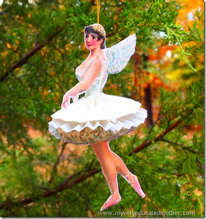 @mvemother Paper Ballerina No Ugly Ornament Preview