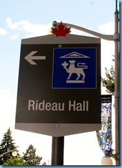 6390 Ottawa Sussex Dr - Rideau Hall sign