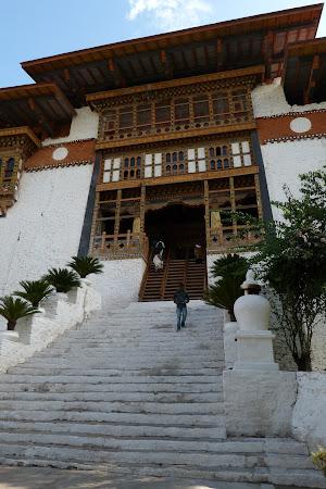 Obiective turistice Bhutan: intrare palat Punakha dzong