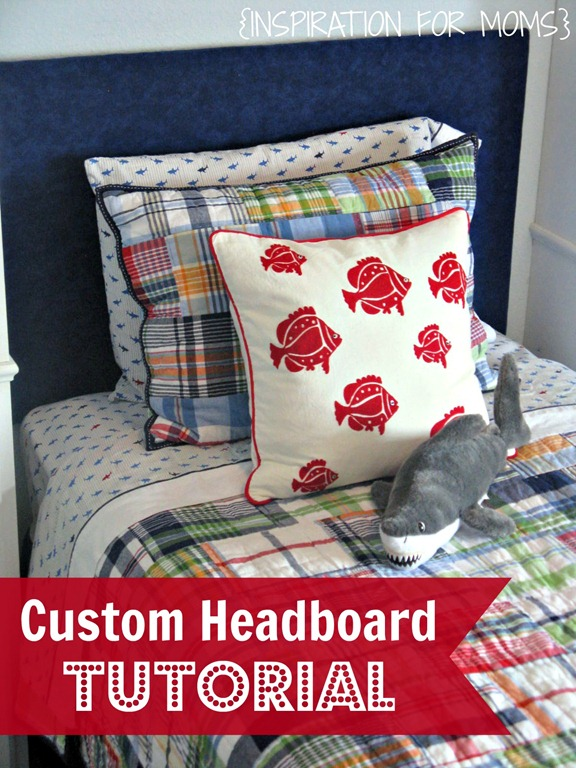 custom headboard tutorial cover