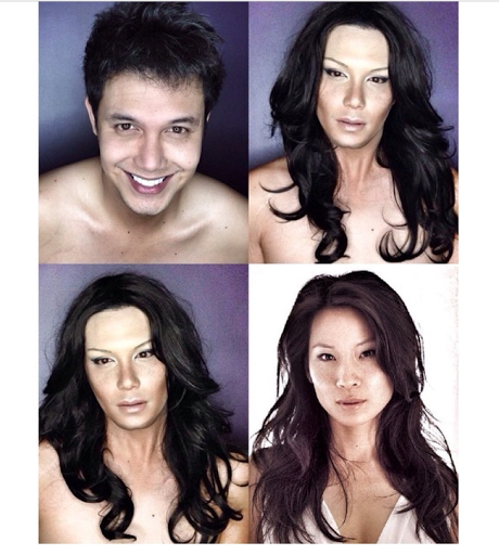 PHOTOS: Dad Transforms Himself Into Celebrities Using Makeup And Wigs 41